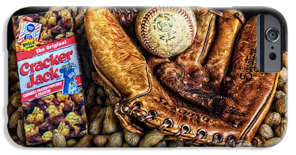Baseball Glove iPhone Cases - Americas Pastime iPhone Case by Ken Smith