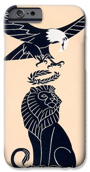 Animals Drawings iPhone Cases - Americas Tribute to Britain iPhone Case by Frederic G Cooper