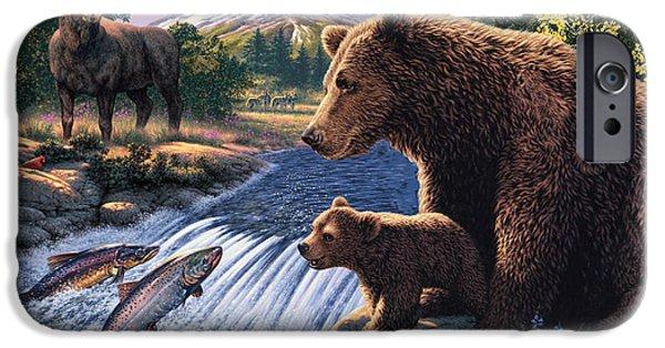 Bear Cub iPhone Cases - Americas Wildlife iPhone Case by Steve Read