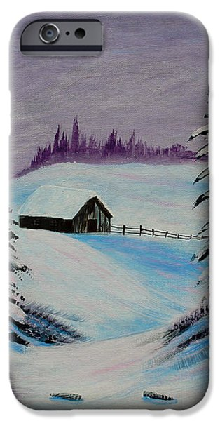 Amethyst Evening after Ross iPhone Case by Barbara Griffin