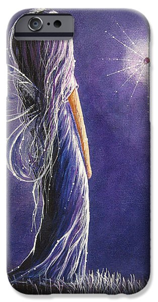 Youthful iPhone Cases - Amethyst Fairy by Shawna Erback iPhone Case by Shawna Erback