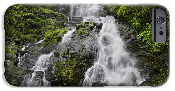 Recently Sold -  - Floral Photographs iPhone Cases - Amicalola Falls iPhone Case by Debra and Dave Vanderlaan