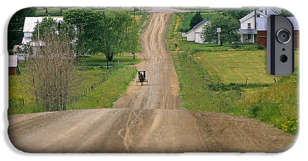 Amish Community iPhone Cases - Amish Buggy iPhone Case by Buddy Mays