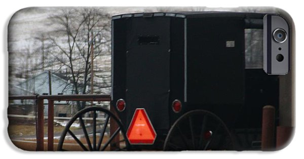 Horse And Buggy Photographs iPhone Cases - Amish Buggy In Winter iPhone Case by Dan Sproul