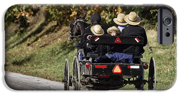 Amish Family iPhone Cases - Amish Family iPhone Case by John Greim
