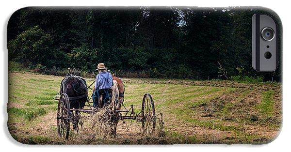 Amish Community iPhone Cases - Amish Farming iPhone Case by Tom Mc Nemar