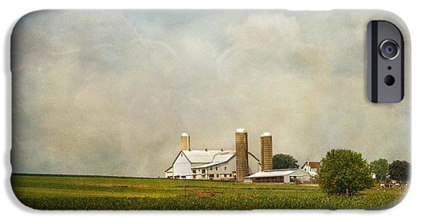 Crops iPhone Cases - Amish Farmland iPhone Case by Kim Hojnacki