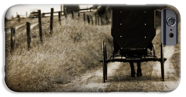 Horse And Buggy Photographs iPhone Cases - Amish Horse And Buggy iPhone Case by Dan Sproul