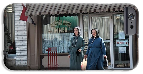 Amish Community Photographs iPhone Cases - Amish Ladies Go Shopping iPhone Case by R A W M