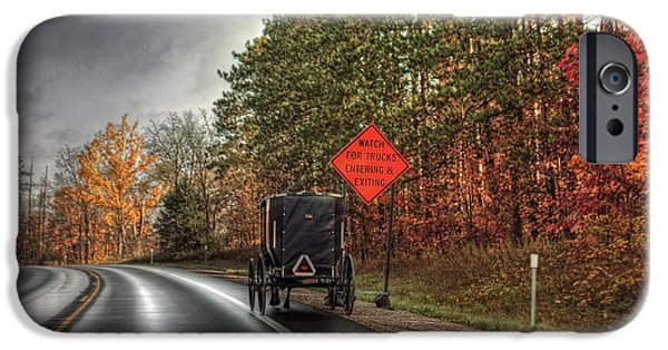 Amish Photographs iPhone Cases - Amish Truck? iPhone Case by Richard Gregurich