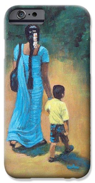 Amma's Grip Leads. iPhone Case by Usha Shantharam