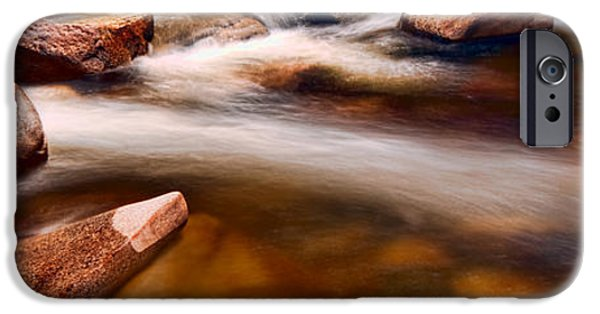 River Pyrography iPhone Cases - Ammonoosuc Summer iPhone Case by Cole Scott