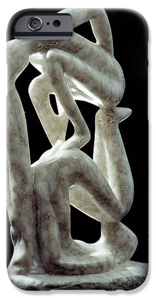 Abstract Sculptures iPhone Cases - Amnon and Tamar iPhone Case by Shimon Drory