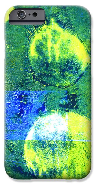 Single-celled iPhone Cases - Amoeba Abstract Art iPhone Case by Nancy Merkle