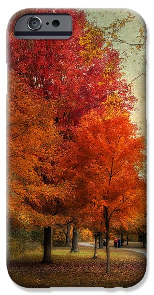 Walkway Digital iPhone Cases - Among the Maples iPhone Case by Jessica Jenney