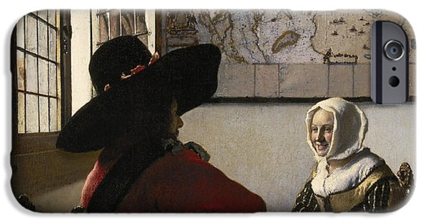 Reserve iPhone Cases - Amorous Couple iPhone Case by Vermeer