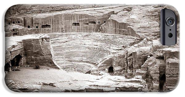 Jordan iPhone Cases - Amphitheater in Petra iPhone Case by Alexey Stiop