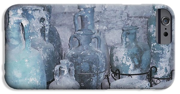 Ann Johndro-collins iPhone Cases - Amphora in Blue iPhone Case by Ann Johndro-Collins