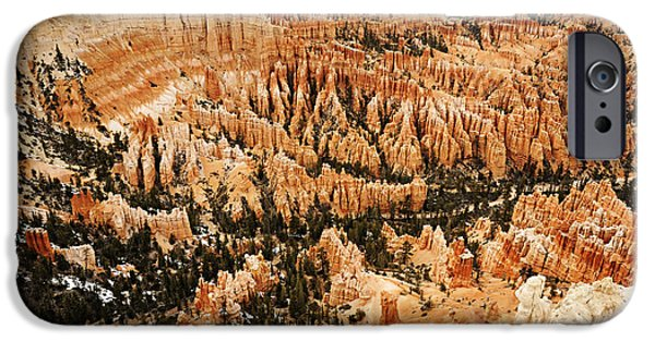 National Treasure iPhone Cases - Amphitheatre at Bryce Canyon iPhone Case by Larry Ricker