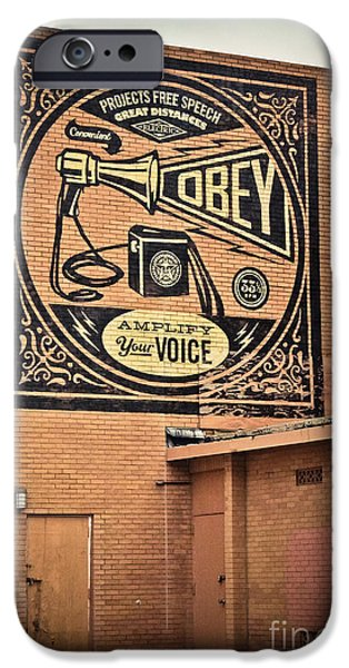 Asbury Park iPhone Cases - Amplify Your Voice iPhone Case by Colleen Kammerer