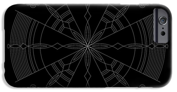 Hieroglyph iPhone Cases - Amplitude Inverse iPhone Case by DB Artist