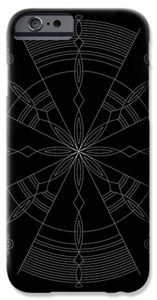 Amplitude Inverse iPhone Case by DB Artist
