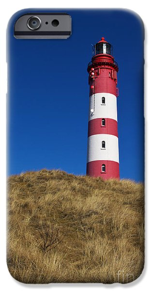 Lighthouses iPhone Cases - Amrum Lighthouse iPhone Case by Angela Doelling AD DESIGN Photo and PhotoArt