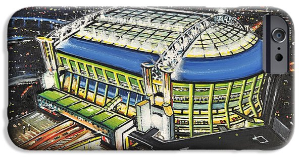 Christmas Greeting iPhone Cases - Amsterdam ArenA - Ajax iPhone Case by D J Rogers
