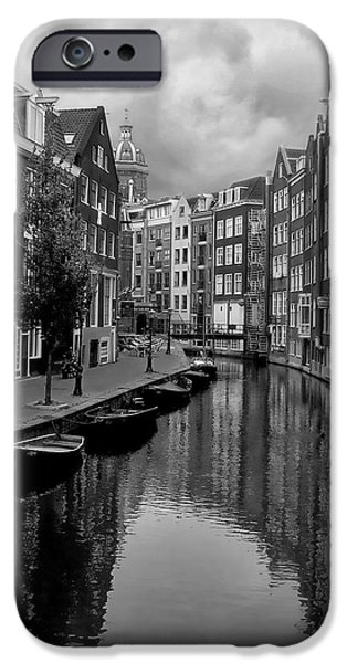 Nederland iPhone Cases - Amsterdam Canal iPhone Case by Heather Applegate