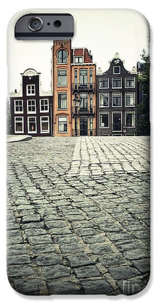 Facade iPhone Cases - Amsterdam street iPhone Case by Jane Rix