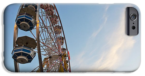 Weekend Activities iPhone Cases - Amusement Ride At Capital Ex iPhone Case by LJM Photo