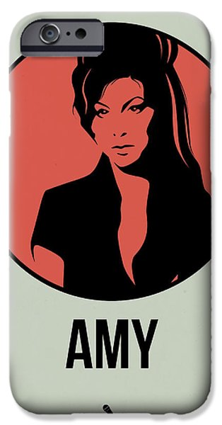 Singer Mixed Media iPhone Cases - Amy Poster 2 iPhone Case by Naxart Studio