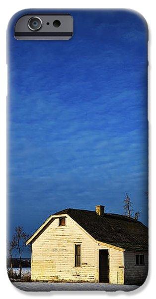 An Abandoned Homestead On A Snow iPhone Case by Steve Nagy