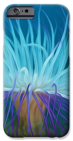 An abstract scene of sea anemone 1 iPhone Case by Lanjee Chee