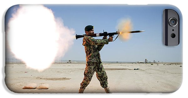 Rpg iPhone Cases - An Afghan National Army Soldier Fires iPhone Case by Stocktrek Images