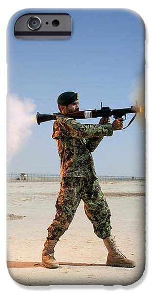 An Afghan National Army Soldier Fires iPhone Case by Stocktrek Images