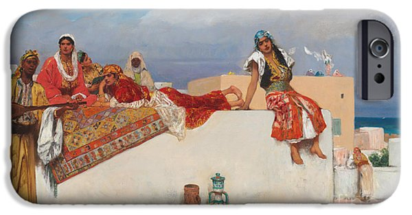 Persian Carpet iPhone Cases - An Afternoon Idyll iPhone Case by Jean Joseph Benjamin Constant