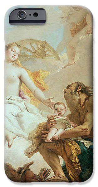 Allegory iPhone Cases - An Allegory with Venus and Time iPhone Case by Tiepolo