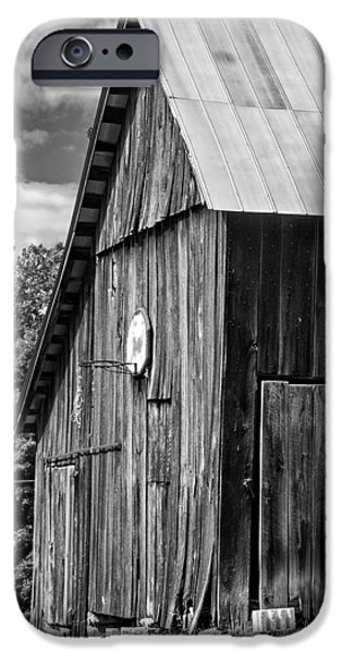Metal Print iPhone Cases - An American Barn bw iPhone Case by Steve Harrington