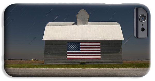 Old Barns iPhone Cases - An American Barn iPhone Case by Tom Phelan