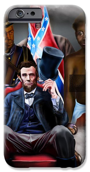 An American Family Portrait iPhone Case by Reggie Duffie