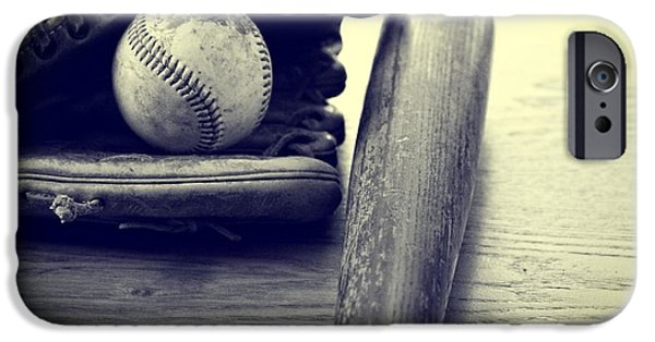 Pitchers Glove iPhone Cases - An American Pastime iPhone Case by Dan Sproul