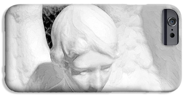 Intimacy Photographs iPhone Cases - An angel  iPhone Case by Toppart Sweden