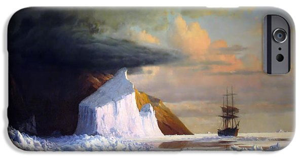 Concept Paintings iPhone Cases - An Arctic Summer iPhone Case by Bradford
