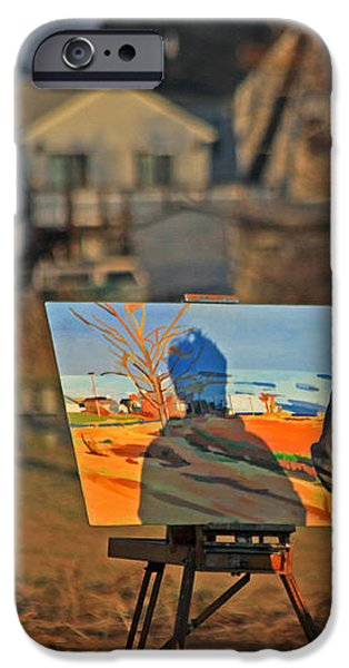 An Artist At Work iPhone Case by Karol  Livote