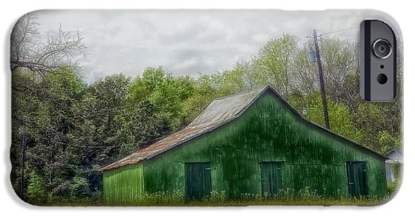Old Barn iPhone Cases - An Artists Barn Studio in Alabama iPhone Case by Mountain Dreams