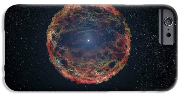 Gamma Ray Burst iPhone Cases - An Artists Impression Of Supernova iPhone Case by Stocktrek Images