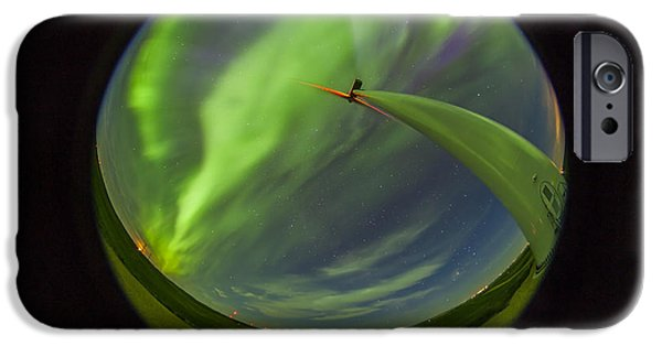 Strange iPhone Cases - An Aurora Display Taken From Wintering iPhone Case by Alan Dyer