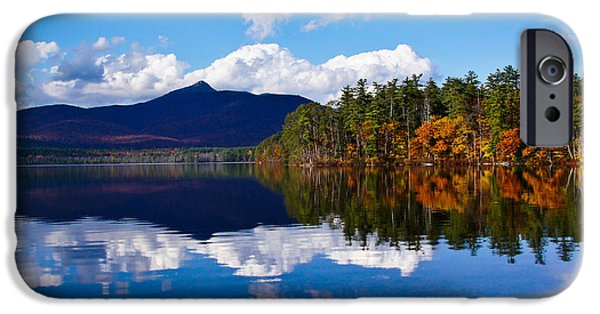 Mt Chocorua iPhone Cases - An Autumn evening on Lake Chocorua iPhone Case by RockyBranch Dreams