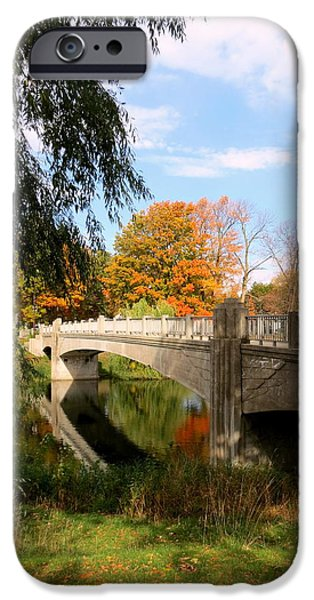 Lincoln iPhone Cases - An Autumn Scene iPhone Case by Kay Novy